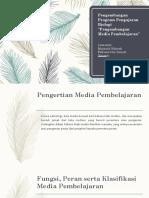 Pengembangan Media Pembelajaran
