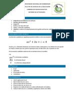 Informe de La Funcion Cuadratica