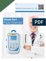 Hawk-fw1 blood and infusion fluid warmer heater vloeistofverwarmer υγρό θερμότερο