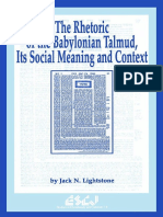 Preview of the Rhetoric of the Babylonian Talmud Its Social Meaning and Context Studies in Christianity and Judaism Volume 6