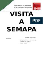 DETALLE DE PROCESO DE AGUA SEMAPA