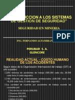 Curso Introduccion Sistemas Gestion Seguridad Mineria Costo Clasificacion Implementacion Control