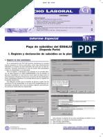 Pago de Subsidios Del Essalud PDT 601- Segunda Parte - Informe Especial
