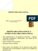Disec3b1o Organizacional y Estructura Organizacional