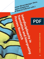 Interdisciplinarity in Translation and Interpreting Process Research