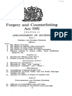 act of forgery 1981