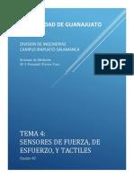 Sensores de Fuerza, Esfuerzo y Táctiles