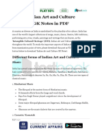Indian Art and Culture GK Notes in PDF