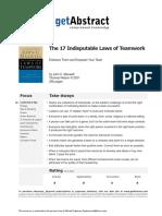 17 Indisputable Laws of Teamwork - getAbstract.pdf
