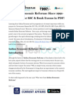 Indian Economic Reforms Since 1991 GK Notes