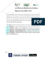 Important Wars Battles in Indian History for SSC CGL 2