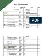 Contoh Daftar Regulasi SNARS