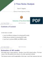 Estimation of Time-Series Models