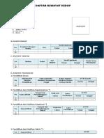 Form Daftar Riwayat Hidup