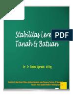 2017, Kuliah ke 3, Stabilitas Lereng Tanah & Batuan [Compatibility Mode].pdf