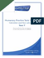 Numeracy Practice Test Year 7 Naplan Book