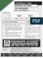 SSC JE Mains Model Test (Civil Ki Goli )