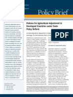Policies for Agricultural Adjustment in Developed Countries under Trade Policy Reform