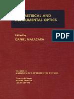 Geometrical and Instrumental Optics (Malacara)