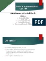 Process Control & Instrumentations CEV 544 Prelab