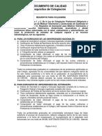 G.S.jd-01 Requisitos de Colegiación