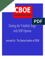 Ex Pox Sp Volatility Edge