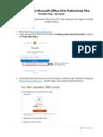 Panduan Instalasi Microsoft Office 2016 Professional Plus