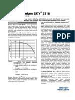 Basf MasterGlenium SKY 8316 Tds