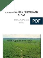 Prediksi Aliran Permukaan Di Das