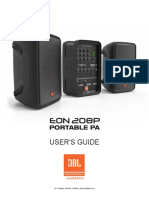 JBL EON208P UserGuide Manual