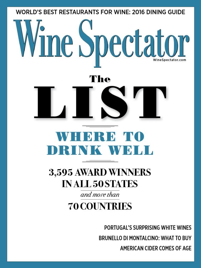 64ef6fa380c Wine Spectator Vol. 41 N 06 (31 August 2016)