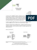 CERTIFICADO DE INSPEÇÃO 17292