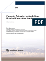 Parameter Estimation for Single Diode Models of Photovoltaic Modules