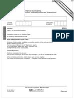 June 2015 (v1) QP - Paper 2 CIE Physics a-level