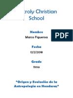 Origen y evolucion de la antropologia en honduras.docx