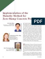 Implementation of the Maturity Method for Zero-Slump Concrete Products