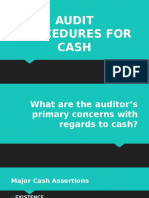 Audit Procedures for Cash