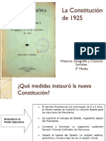 La Constitucic3b3n de 1925 a Carlos Ibac3b1ez Del Campo