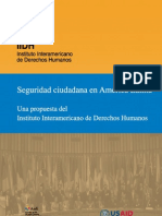 Seguridad Ciudadana Una propuesta del Instituto Interamericano de Derechos Humanos