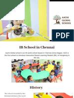 IB School in Chennai
