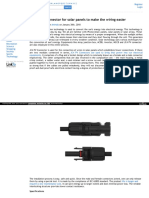 Effortless Connector for solar panels to make the wiring easier