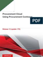 Procurement Cloud Using Procurement Contracts v13
