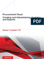Procurement Cloud Creating and Administering Analytics and Reports