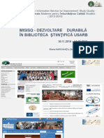 Elena HARCONIŢA. MISISQ - Dezvoltare durabilă în Biblioteca Ştiinţifică USARB