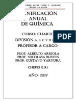 Planificación Anual de.quimica 2017