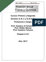 Planificacion Anual de Física y Química 2017