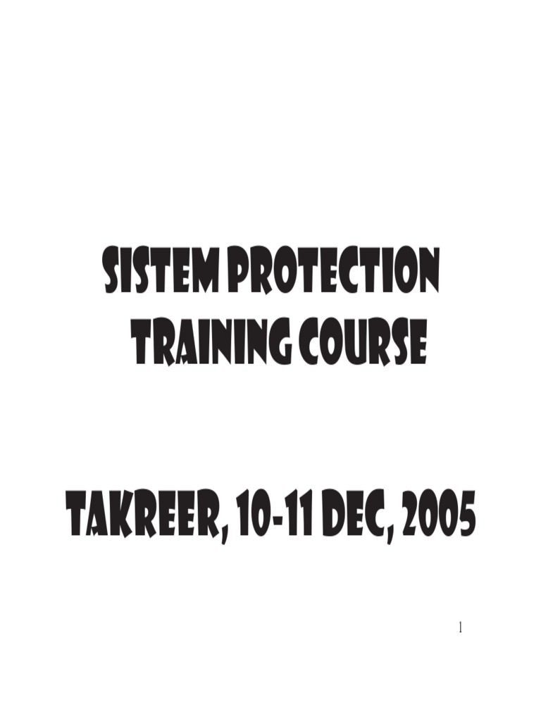 System Protection Training Course Fuse Electrical Transformer Farfromgenerator Short Circuit