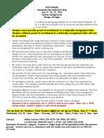 2018 Powwow Vendor Application