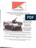 US T40 Gun Motor Carriage - Commander Series Model Instructions 1-35 Scale