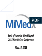MiMedx Investor Presentation FINAL - May 2018